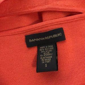 Banana Republic Tops - Banana Republic Orange Silk blend halter top